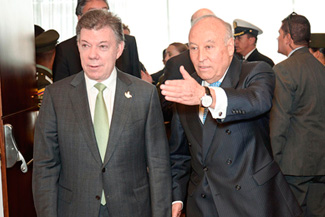 President Santos attends the closing of the CL meeting of the Board of Directors of CAF