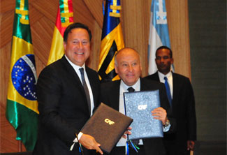 President Varela sealed agreement with CAF for Panamanian development