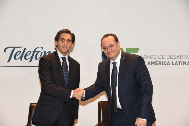 CAF and Telefónica partner to promote digitization projects and initiatives in Latin America