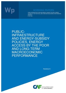 Public-infraestructure and energy-subsidy policies, energy access by the poor and long-term macroeconomic performance