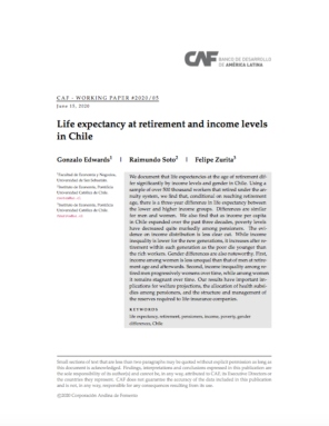Life expectancy at retirement and income levels in Chile
