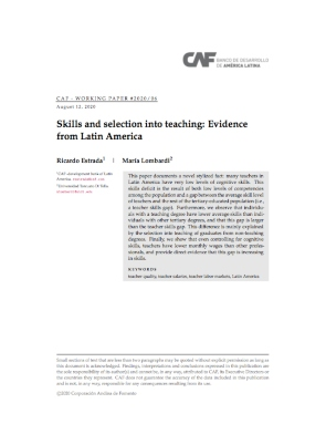 Skills and selection into teaching: Evidence from Latin America