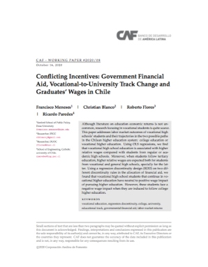 Conflicting Incentives: Government Financial Aid, Vocational-to-University Track Change and Graduates' Wages in Chile