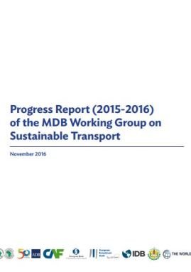 imagen publicacion - Progress Report (2015-2016) of the MDB Working Group on Sustainable Transport